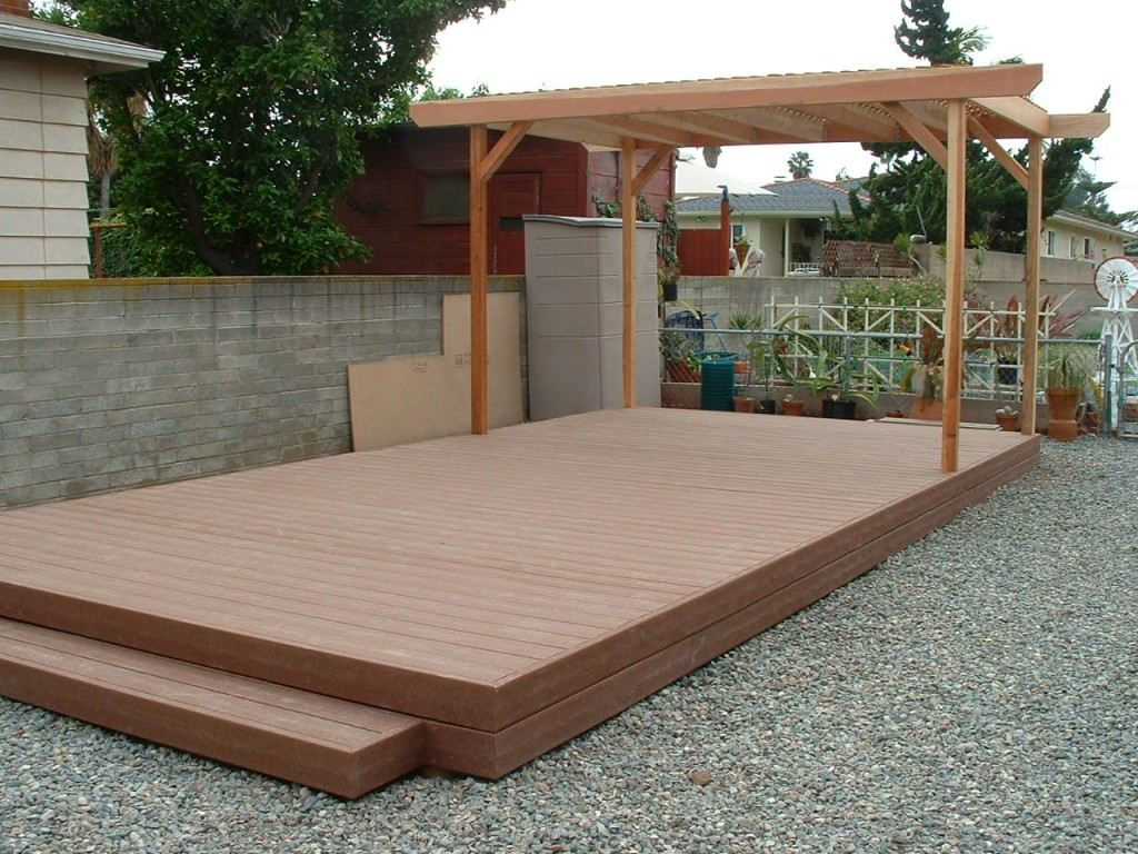 Patio covers san diego decks for Outside decking material
