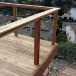 Redwood Deck with Cable Rail 1