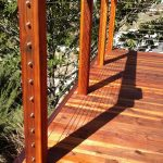 Redwood Deck with Cable Rail 10