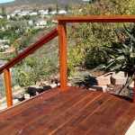 Redwood Deck with Cable Rail 3