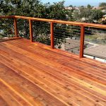Redwood Deck with Cable Rail 5