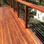 Redwood Deck with Cable Rail 6