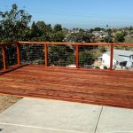 Redwood Deck with Cable Rail 2