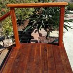 Redwood Deck with Cable Rail 4