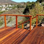 Redwood Deck with Cable Rail 7