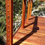 Redwood Deck with Cable Rail 9